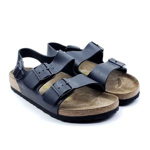 Birkenstock Arizona Black Oiled Leather Sandals